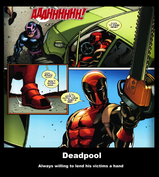 Deadpool crazy parking