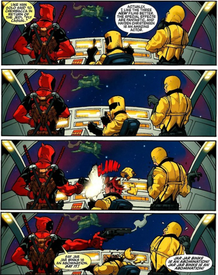 Deadpool hates Jar-Jar
