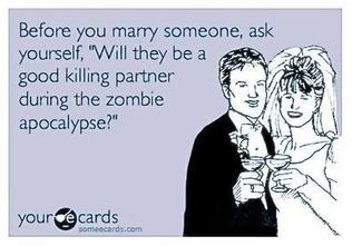 funny marry zombie killing partnerPicture
