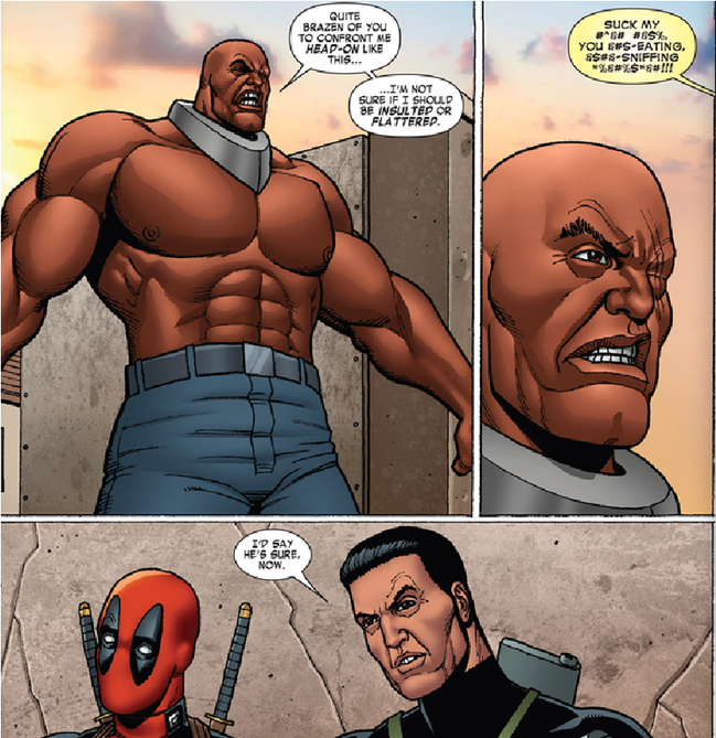 flattered insulted Deadpool